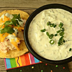 Glenn's Jalapeno Sauce Recipe - Blend jalapeno pepper, cilantro, green onion, garlic powder, and black pepper with sour cream for a creamy homemade hot sauce.