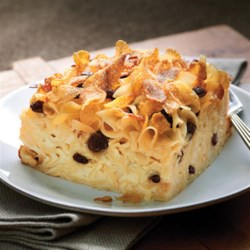 NO YOLKS(R) Luscious Kugel Recipe - Always smooth, firm and delicious NO YOLKS(R) Noodles hold together this perfect holiday side dish or dessert with sweet, creamy custard.