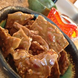 Almond Brittle Recipe - This is a quick and easy recipe for a brittle made with almonds rather than peanuts with only four ingredients.