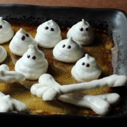 Meringue Bones and Ghosts Recipe - Don't let meringue scare you away from making Chef John's easy recipe for Halloween meringue bones and ghosts!