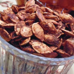 Roasted Winter Squash Seeds Buffalo Hot Wings-Style Recipe - Toasting pumpkin seeds is an autumnal tradition that should be extended to seeds other varietals of winter squash. Use this recipe to do them Buffalo-style.