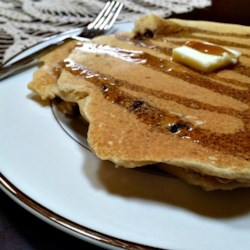 Whole Wheat Chocolate Chip Pancakes Recipe - Whole wheat chocolate chip pancakes are a hearty version of the family-favorite breakfast treat.