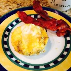 Eggs n Bacon Cupcake