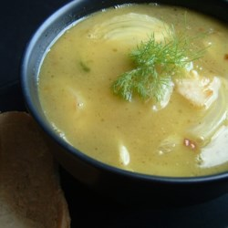 Fennel Soup Recipe - This soup is so easy to prepare and tastes better than most soups you could buy. Mild onion and anise flavored - it's awesome!