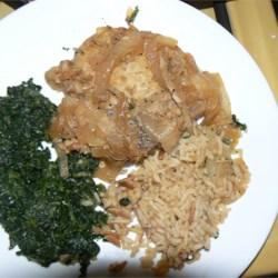 Easy Carmelized Onion Pork Chops