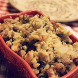 Sausage and Potato Filling Recipe - This heirloom recipe makes a big batch of marjoram- and parsley-flavored sausage and potato filling for savory pies and dumplings.