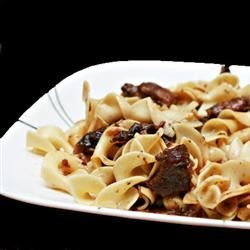 Butter Beef Recipe - Easy, melt in your mouth onion-buttery beef from your slow cooker! Serve over cooked egg noodles.