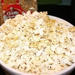 Emily's Famous Popcorn Recipe - Everyone who eats this popcorn just loves it. My kids, their friends, my friends, and family all expect this for an evening of movie watching. A delicious whole-grain snack!