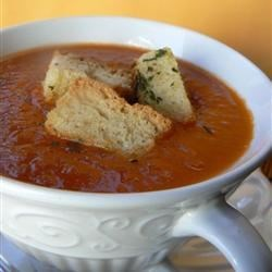 Garden Fresh Tomato Soup Recipe - A simple, homemade soup made with fresh tomatoes is a perfect summertime treat when the best tomatoes are ripe in gardens and farmers' markets. Everyone will love the fresh sweet taste and smooth texture.