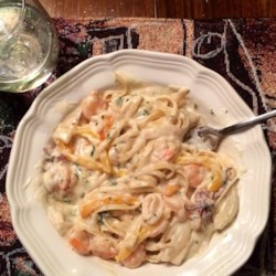 Calamari in a Creamy White Wine Sauce