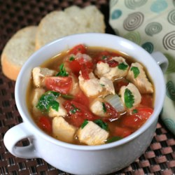 Chipotle Pepper and Chicken Soup Recipe - Chipotle peppers in adobo sauce brings the heat in this chicken soup recipe featuring plenty of garlic.