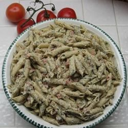 Creamy Penne Pasta Recipe - Penne tossed with a cream cheese sauce flavored with garlic, basil, oregano and parsley.