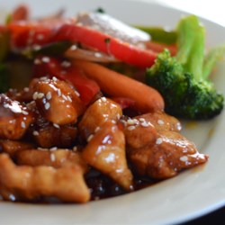 Sweet, Sticky and Spicy Chicken Recipe and Video - This delicious dish uses skinless boneless chicken breasts cooked in a gingery, spicy, soy  sauce. It's great as an appetizer or as a main dish served with rice and a veggie.