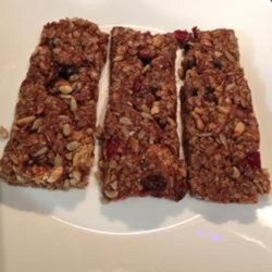Sharon's No-Bake Granola Bars Recipe - These yummy, energizing no-bake granola bars are going to disappear as fast as you can make them.