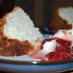 Angel Food Cake III Recipe - Classic angel food cake, light and tastes great by itself!