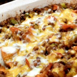 Baked Lentils with Cheese