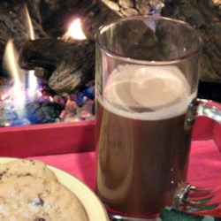 Italian Stallion Recipe - Hot chocolate is enlivened with hazelnut liqueur, coffee liqueur and brandy.