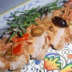 Pork Tenderloin alla Napoli Recipe - If you like the robust flavor of olives, tomatoes, and rosemary, this is the dish for you. I find it works best using a cast iron skillet.