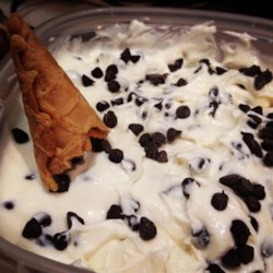 Cannoli Dip Recipe - Turning the flavors of cannoli into a dip is about the best idea you'll have today, so get some ricotta cheese and some chocolate chips and get to work!