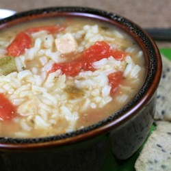 Tomato Chicken Rice Soup Recipe - Tomato chicken rice soup is easy to make from pantry ingredients, a comfort food favorite.