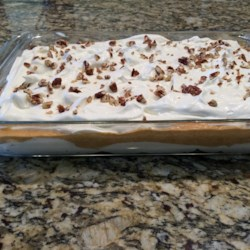 Thanksgiving Pumpkin Slush Cake Recipe - This pumpkin slush cake, made with vanilla pudding and whipped topping, is a great alternative to pumpkin pie!