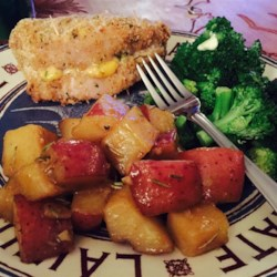 John's Baked Pork Chops Stuffed with Smoked Gouda and Bacon