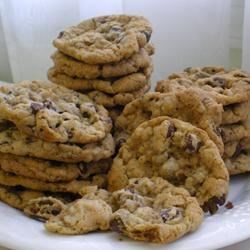 Cowboy Cookies III Recipe - Classic, chewy chocolate chip oatmeal cookies.