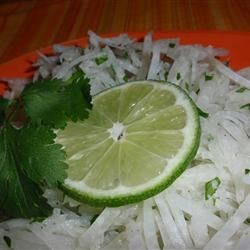 Jicama Salad with Cilantro and Lime