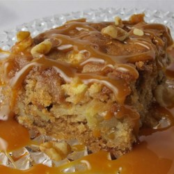 Fresh Apple Walnut Cake Recipe - A moist, lightly spiced cake loaded with walnuts and chunks of apples.