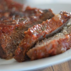Healthier Brown Sugar Meatloaf Recipe - A tasty meatloaf flavored with ginger and ketchup is made healthier by using less sugar, low-fat milk, and whole wheat bread crumbs.