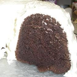 yummy chocolate cake with vanilla buttercream frosting