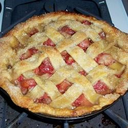 Most Spectacular Strawberry Pie Recipe - This is a baked strawberry pie with a lattice crust for that gourmet touch!