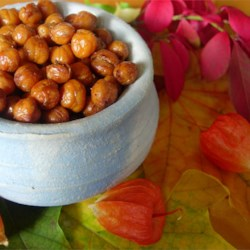 Roasted Chickpeas Recipe and Video - A delicious, high fiber snack, these roasted chickpeas are a crispy, crunchy alternative to bland, mushy chickpeas.
