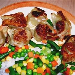 Gyoza w/ Rice & Veggies