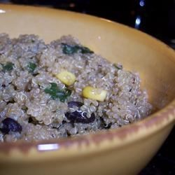 my version of quinoa and black beans