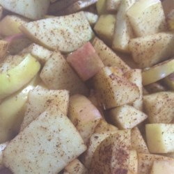 Cinnamon Apples Recipe - Warm cinnamon apples are quick and easy to prepare in the microwave and make a sweet side dish for chilly autumn nights.