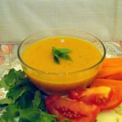 Herbed Pumpkin Gravy Recipe - Use steel-cut oats and pumpkin puree to make this pumpkin gravy seasoned with herbes de Provence.