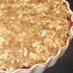 Apple-Raspberry Crisp Recipe - A different kind of apple crisp that tastes wonderful. I entered this recipe in a contest and it was a runner-up. It definitely was a winner to me. My husband loved it.