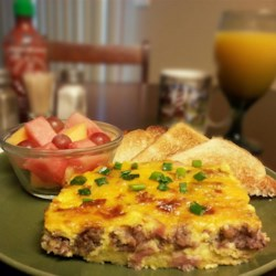 Egg Casserole Recipe - I have been making this egg casserole for 13 years, primarily for Christmas brunch gatherings. It includes eggs, bread, cheese and sausage. It also works great with bacon.