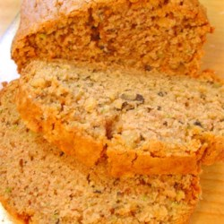 Zucchini Bread IV Recipe - You'll get two loaves of classic zucchini bread, sweet and cinnamon-spicy.  This is a definite crowd-pleaser.