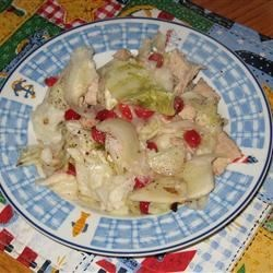 Scalloped Cabbage with Fennel and Cranberries