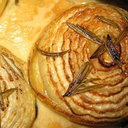 Onions Baked with Rosemary and Cream Recipe - A wonderful aromatic blend of onions and rosemary, perfect for any holiday feast. It'll be the hit of the dinner!