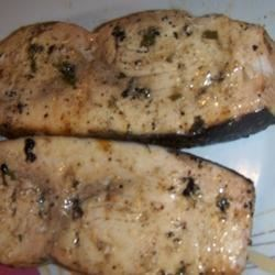 Spicy Grilled Swordfish Recipe - Grilled fish is always great, and here's a delicious fiery lemon marinade for swordfish steaks to add to your recipe box.  This marinade will work for any firm, white fish steaks--try it with marlin, tuna or halibut.