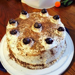 Black Forest Cake II Recipe - Wonderful chocolate layer cake which is soaked in Kirsch liqueur, with cherry filling.