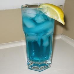 Blue Motorcycle Recipe - Kind of like a Long Island iced tea, but with a blue twist!