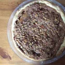 Colonial Innkeeper's Pie Recipe - Pretend you 're making a cake, pour the batter into a pie shell, top with chocolate frosting and nuts, and bake. That 's it. What a neat pie  ...cake.