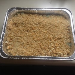 Easy Broccoli Casserole Recipe - Green bean casserole gets a makeover when broccoli takes the stage in this slightly altered version of a holiday tradition.