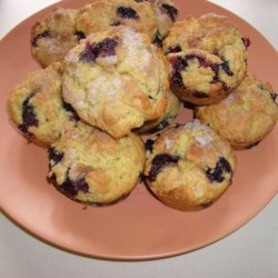 Blueberry Oat Muffins Recipe - Oats and orange juice give these blueberry muffins extra texture and flavor.