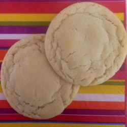 Easy Sugar Cookies Recipe - Quick and easy sugar cookies! Terrific plain or with candies in them. This recipe uses basic ingredients you probably already have.