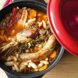 How to Make Cassoulet Recipe - This classic French version of baked beans takes time, but the meltingly tender, flavorful beans with sausage and pieces of tender duck is so worth it.